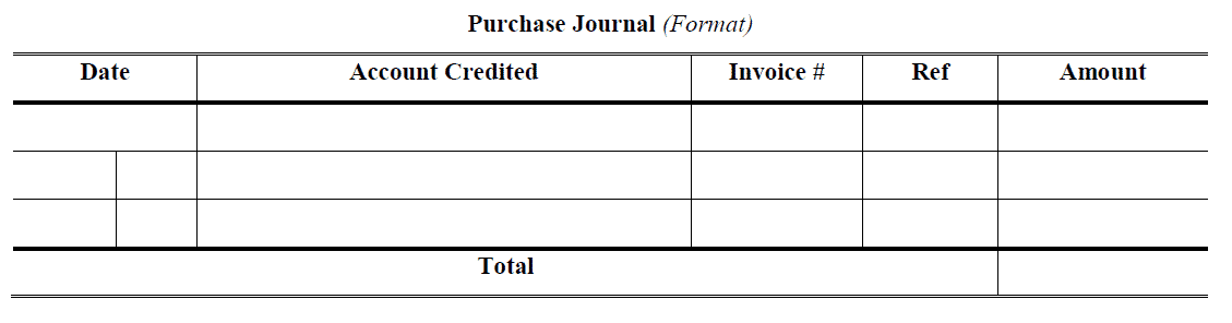 Purchase Day Book Format
