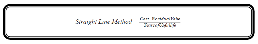 straight line method depreciation formula