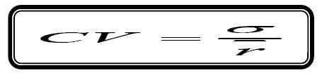 co-efficient of variation formula