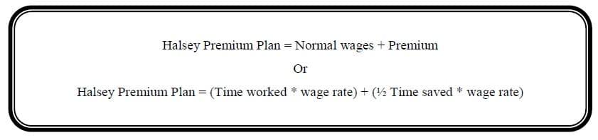 halsey premium plan formula