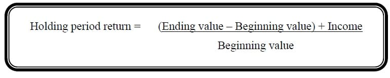 holding period return formula