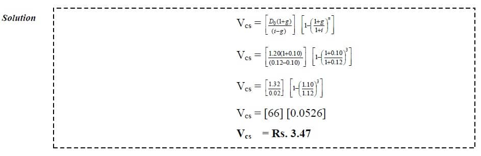 dividend discount model limited constant growth example