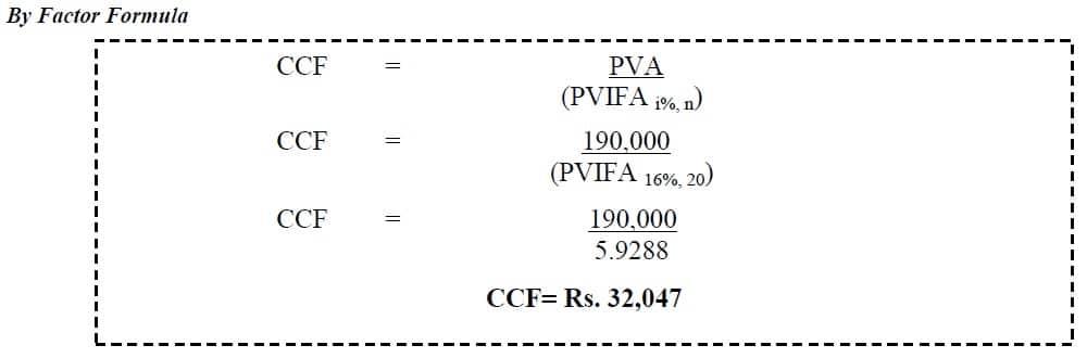 loan amortization factor example