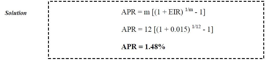 annual percentage rate example