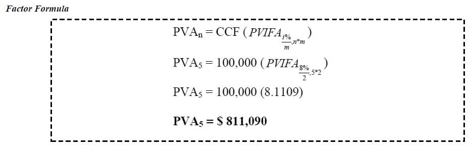 present value of annuity question with answer