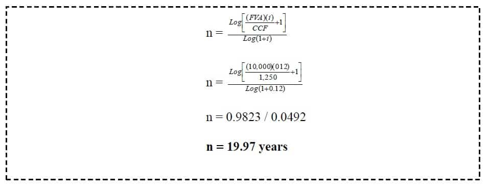 present value of annuity time unknown