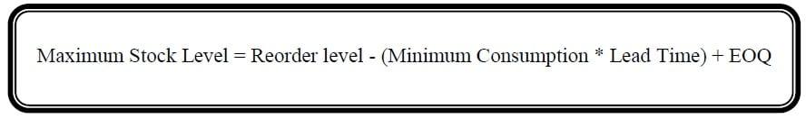 maximum stock level