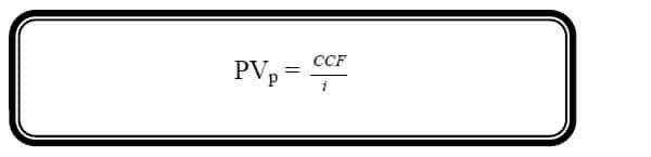present value of perpetuity formula