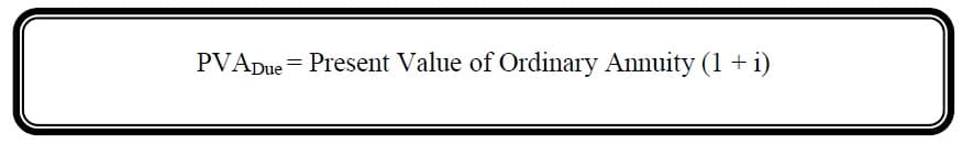 present value of annuity due formula