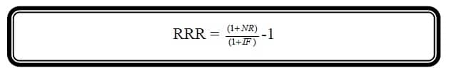 real rate of return formula