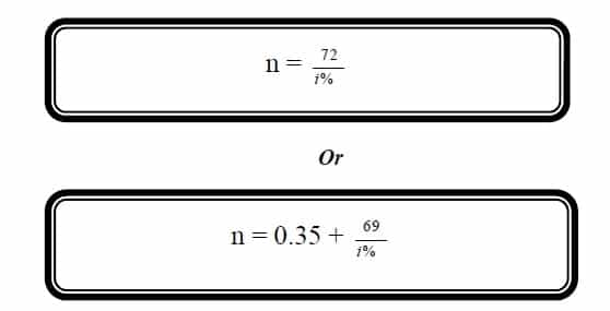 rule of 72 formula