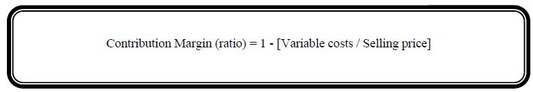 Contribution Margin ratio formula