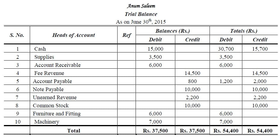 Trial Balance I Types I Format I Examples I Accountancy Knowledge